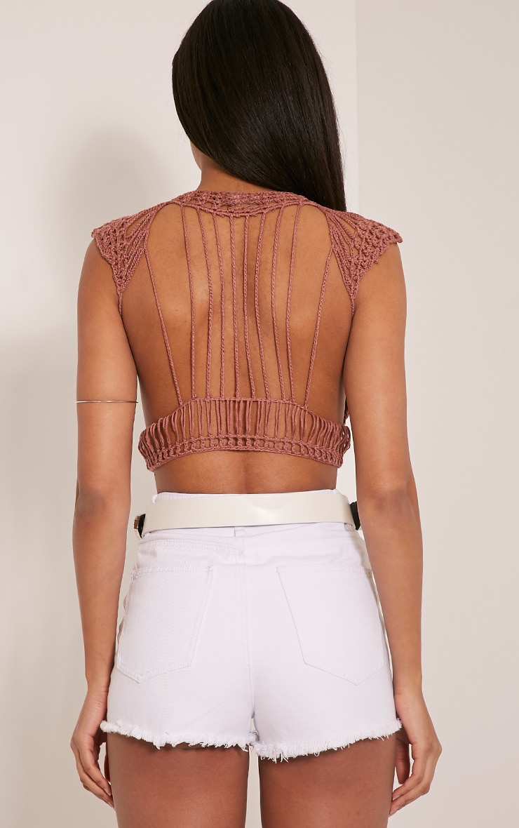 Samanthee Rose Crochet Crop Top 2