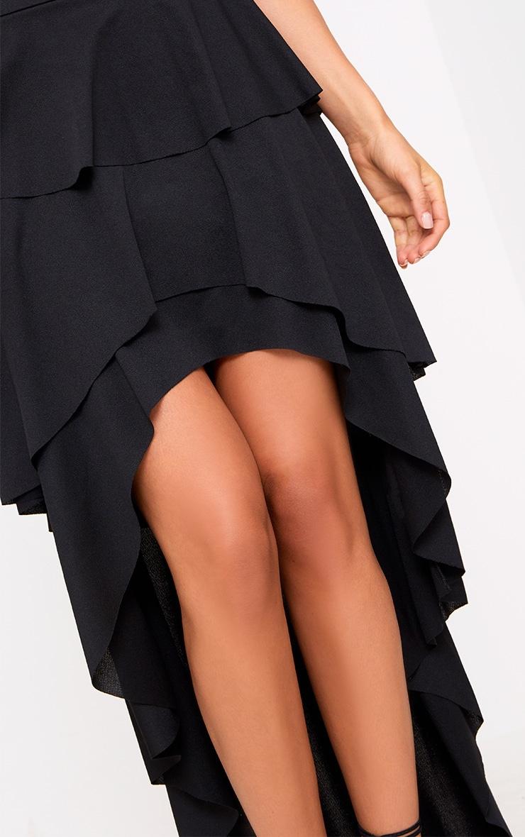 Black Hi Lo Tiered Maxi Skirt 5
