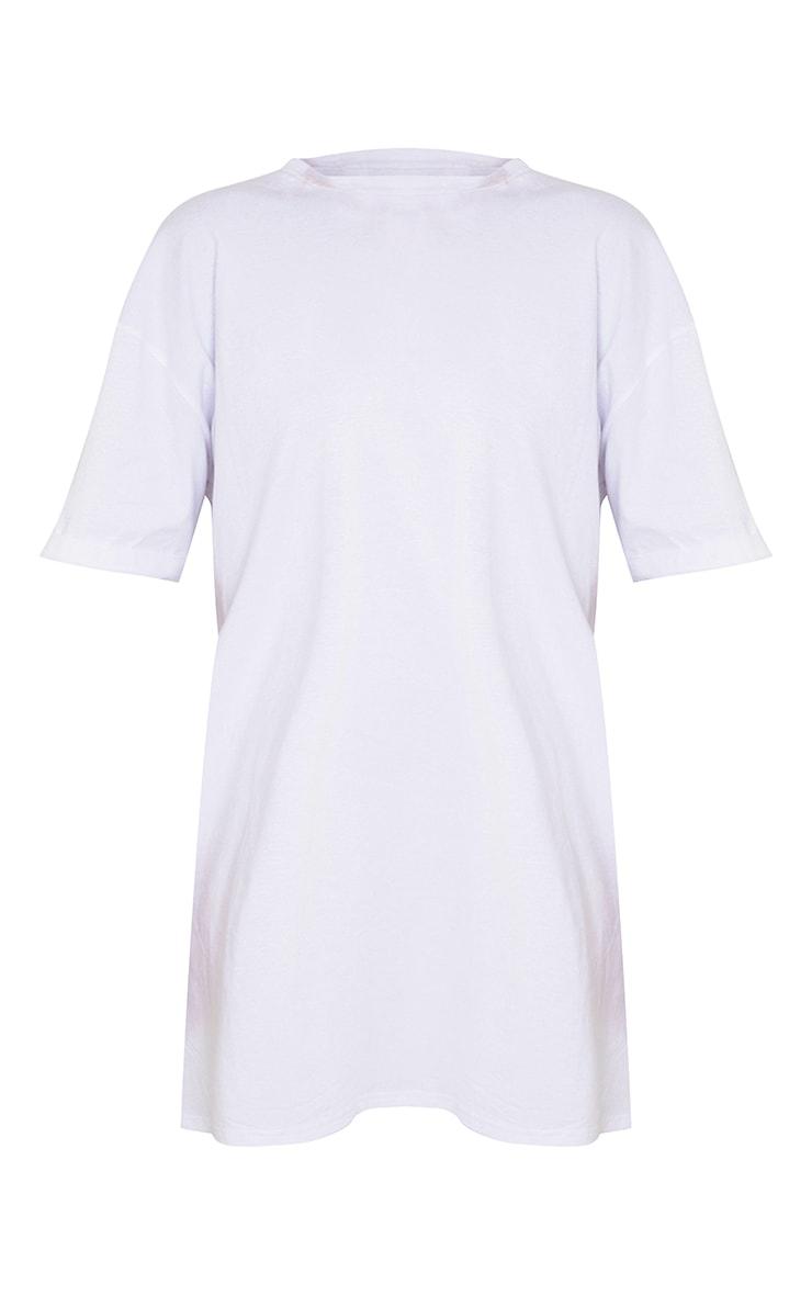 Tall White Oversized Organic Tshirt Dress 5