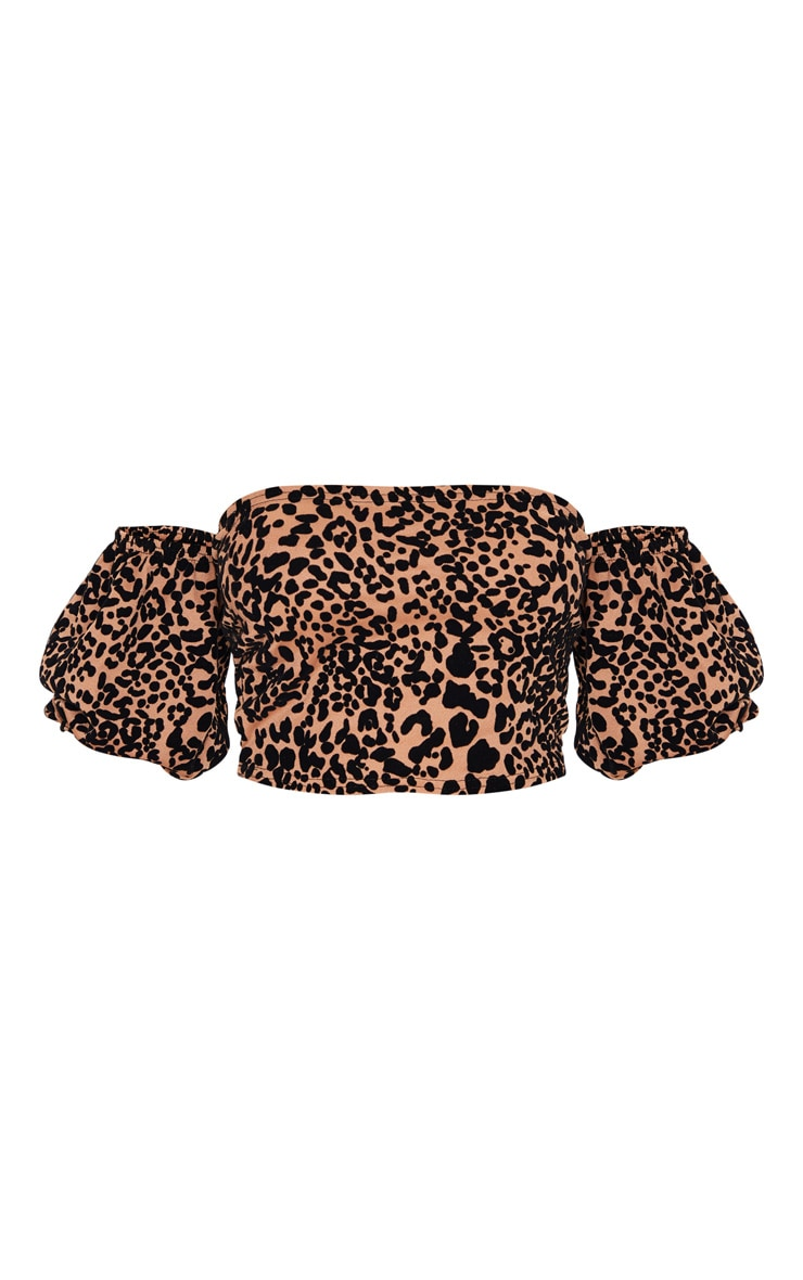Tan Leopard Bardot Top 5