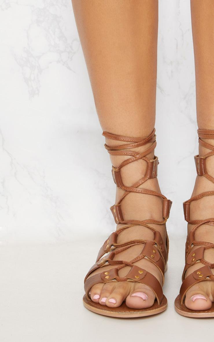 Tan Leather Ghillie Sandal 5