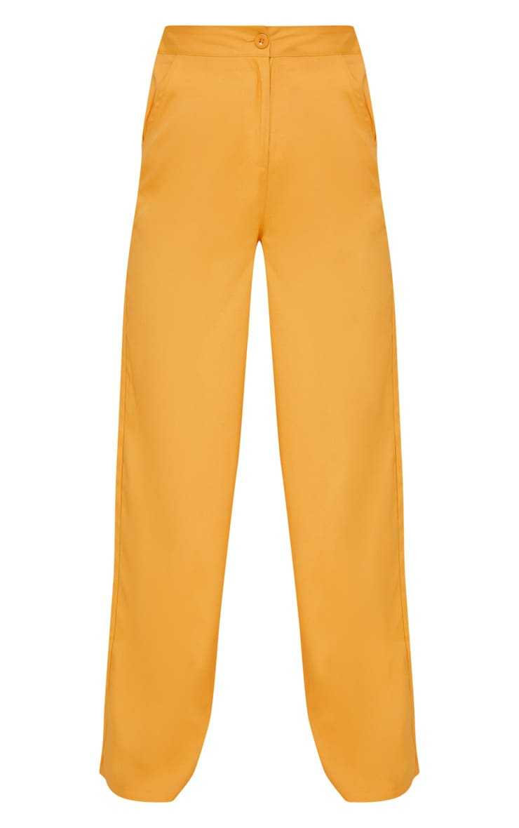 Mustard Wide Leg Suit Trouser  3