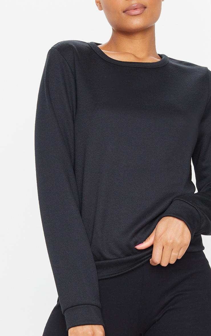 Basic Black Sweater 4