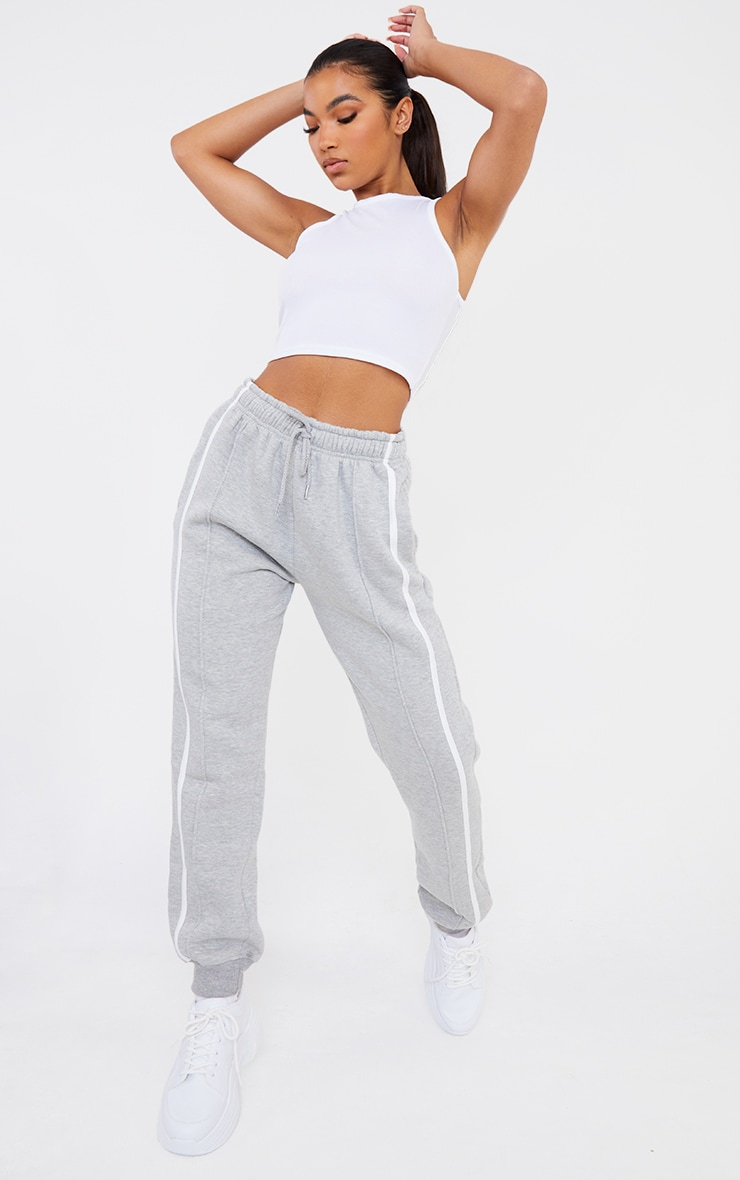 Grey Double Side Stripe Jogger 1