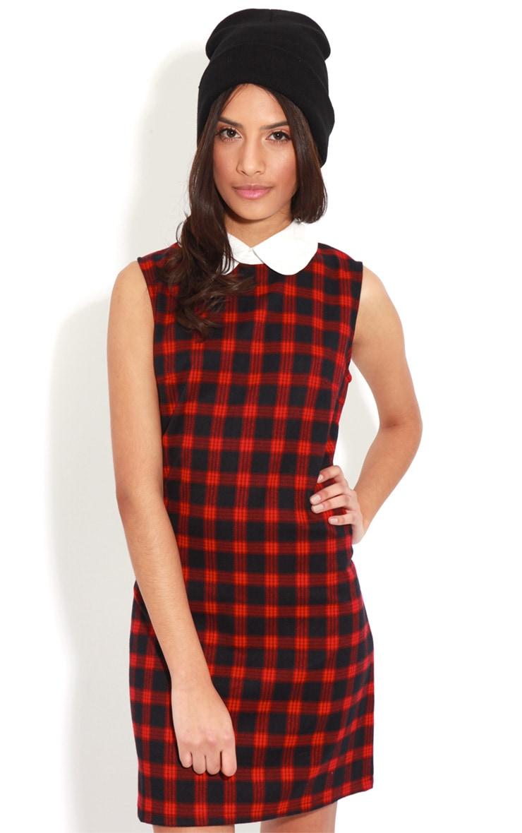 Chayse Sleeveless Tartan Collar Dress 1