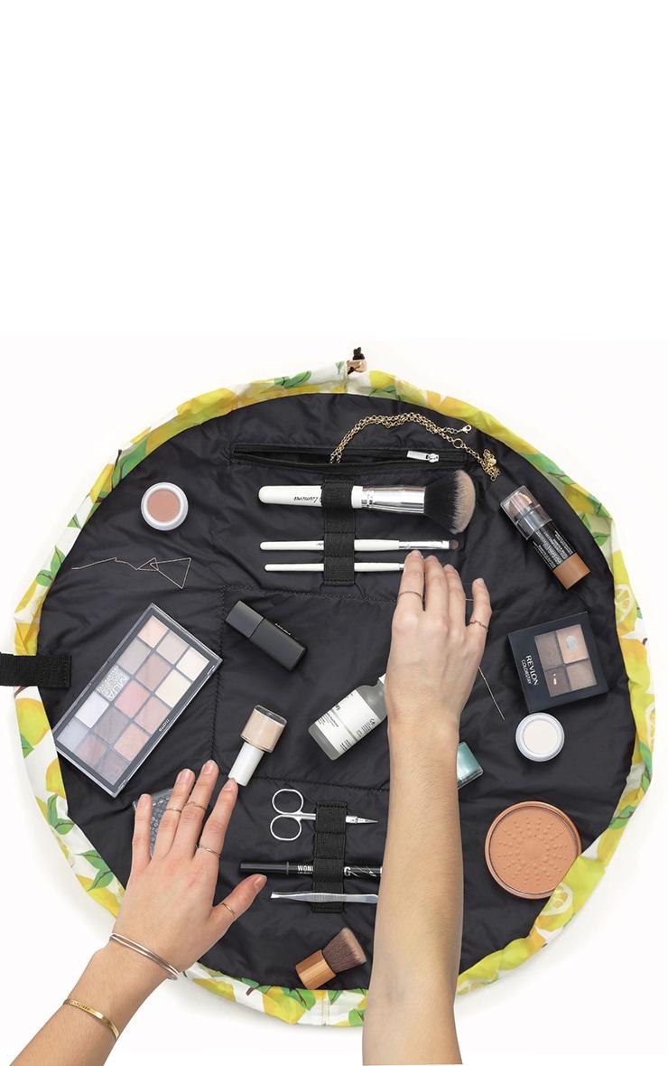 The Flat Lay Co Lemons Print Makeup Bag 4