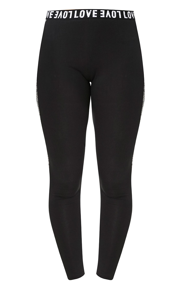 Grey/Black Melange Gym Leggings 3