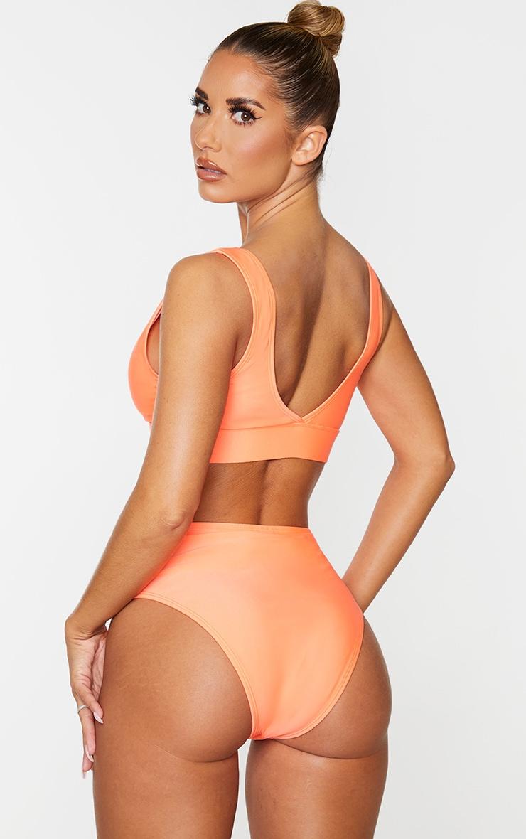 Coral Mix & Match Plunge Bikini Top 2