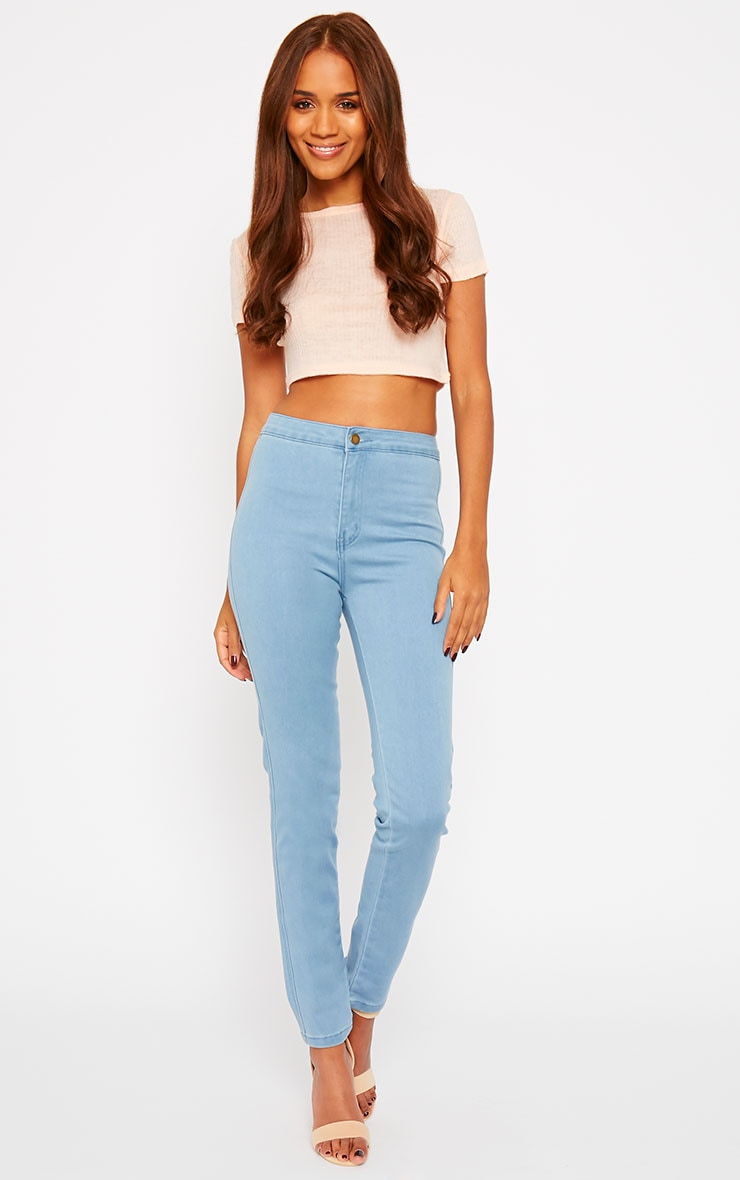 Jenna Light Blue Wash High Waist Jeans 1