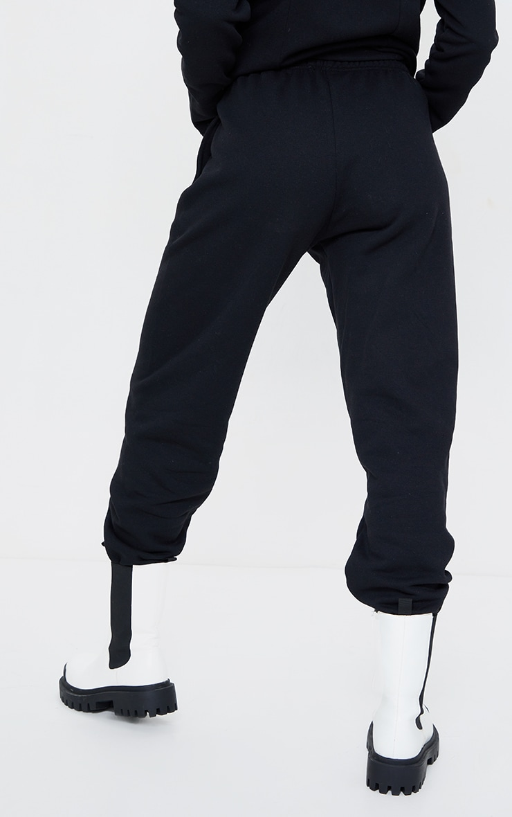 Black Seam Front Cuffed Joggers 3
