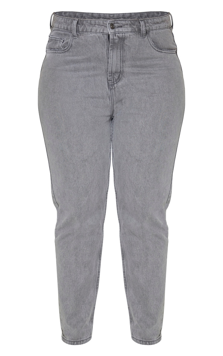 Plus Grey Washed Mom Jean 3