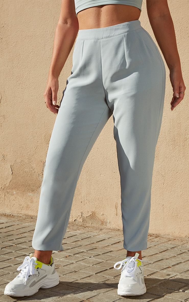 Petite Dark Mint Tailored Trousers 2