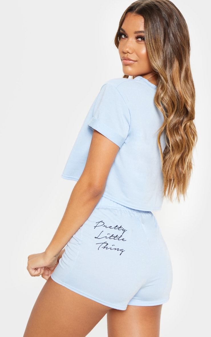 PRETTYLITTLETTHING - Ensemble pyja-short bleu clair 1