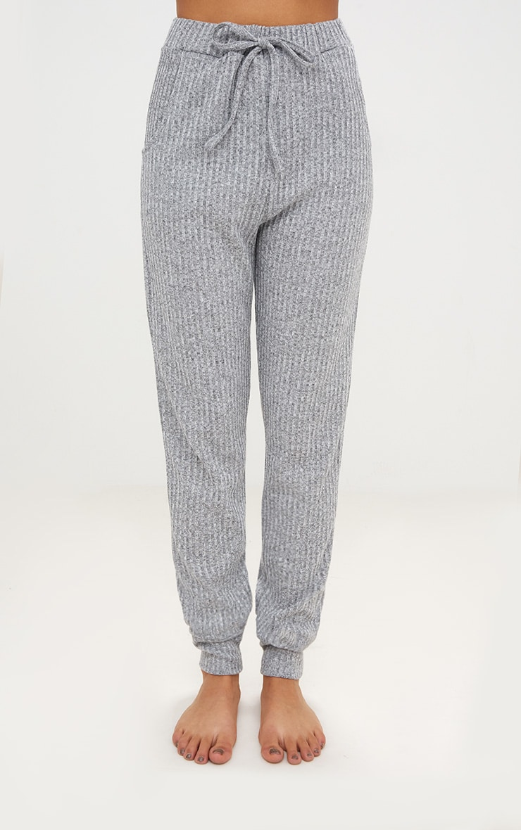 Grey Marl Bardot Knit Set 6