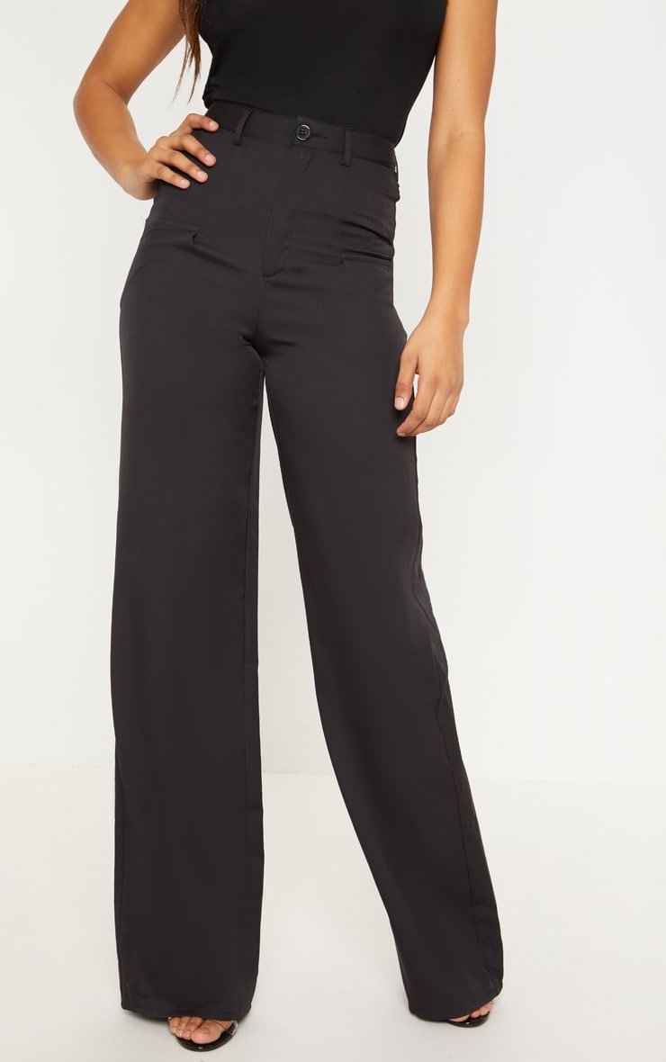Tall - Pantalon ample noir à poches 2