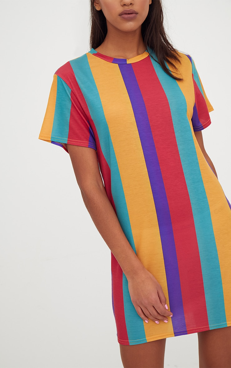 Multi Striped T Shirt Dress 5