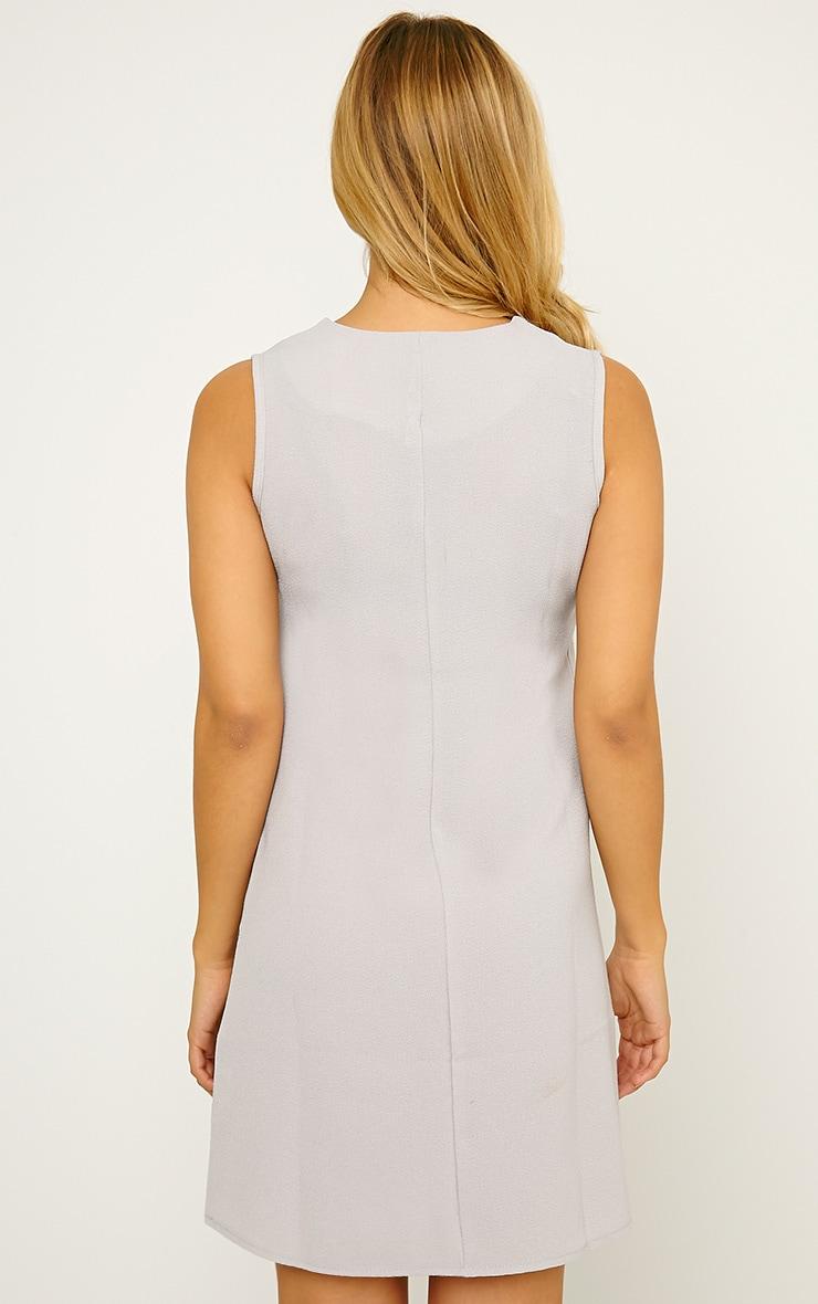 Jadako Grey Sleeveless Loose Fit Square Neck Dress 2