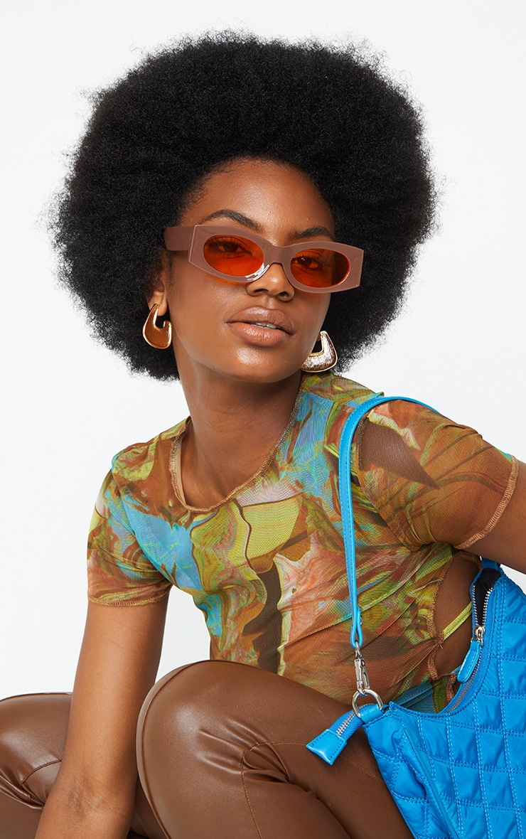 Chocolate Outlined Square Sunglasses 1
