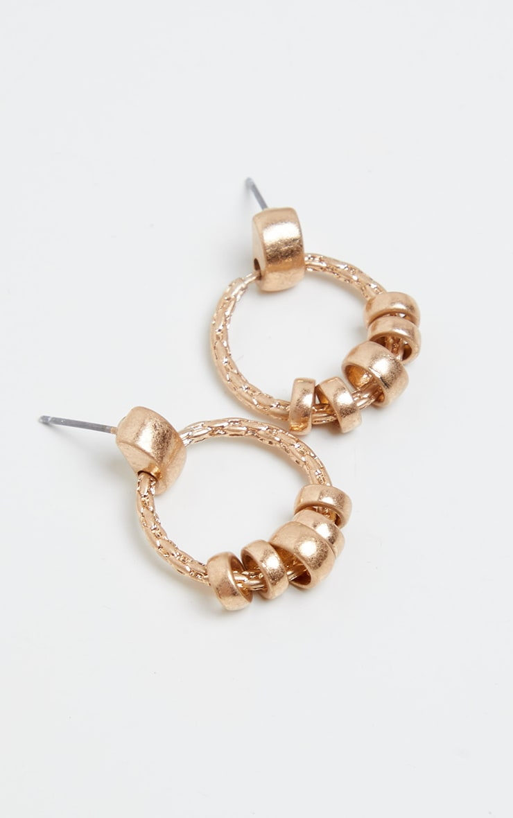 Gold Mini Door Knocker Hoop Earrings 2