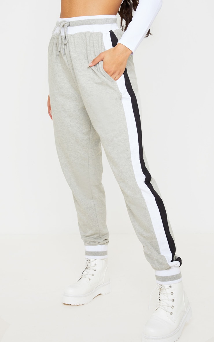Grey Stripe Cuff Joggers 2