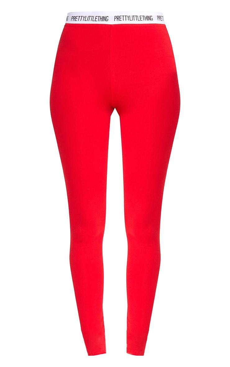 Red Prettylittlething Leggings 3