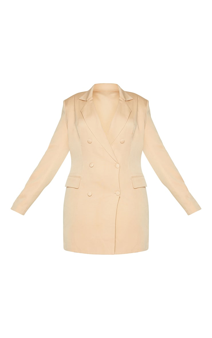 Plus Stone Double Breasted Structured Blazer Dress 5