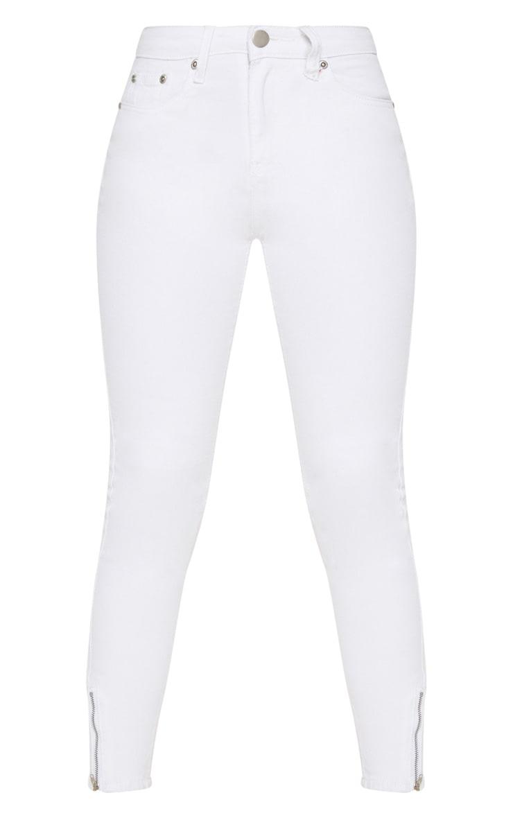 Petite White  Ankle Grazer Skinny Jean 3