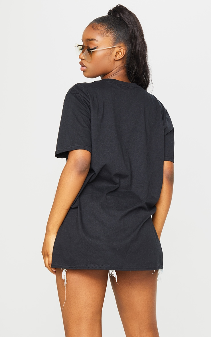 Black Basketball Rockets Printed T Shirt 2