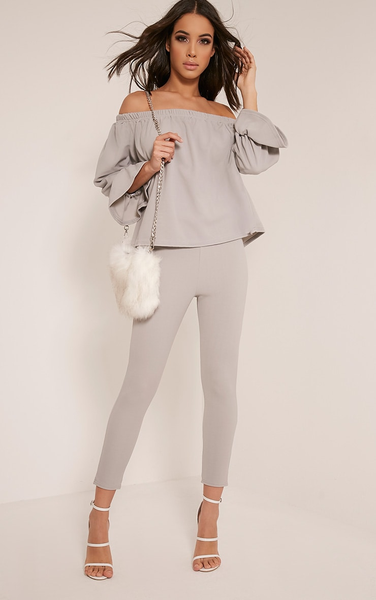 Evalyn Grey Cropped Trousers 1
