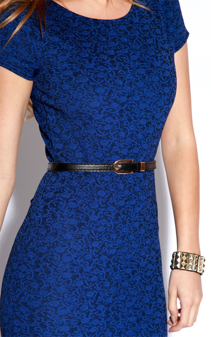Paige Blue Flock Pattern Midi Dress 4