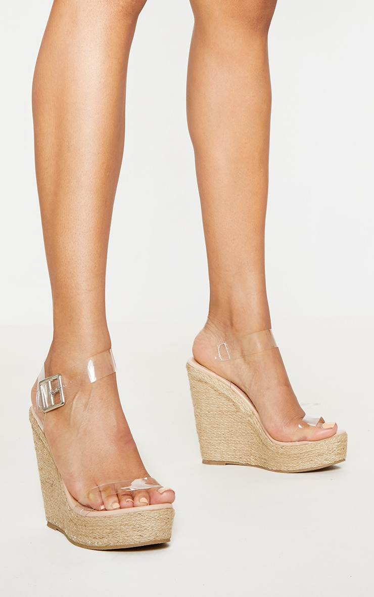 Clear Strap High Wedge 2