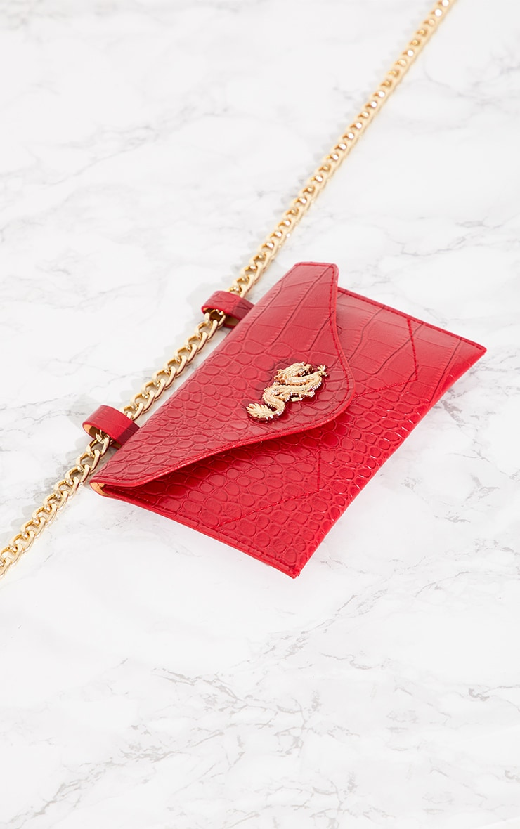 Red Dragon Chain Belted Bum Bag 3