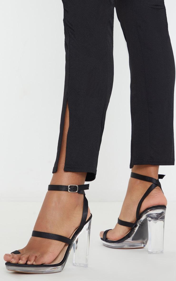 Black Clear Toe Loop Platform Sandal 1