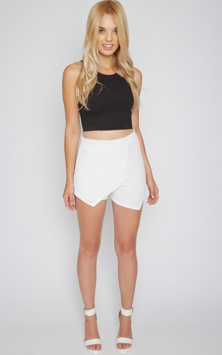 Isobel White Textured Skort  3