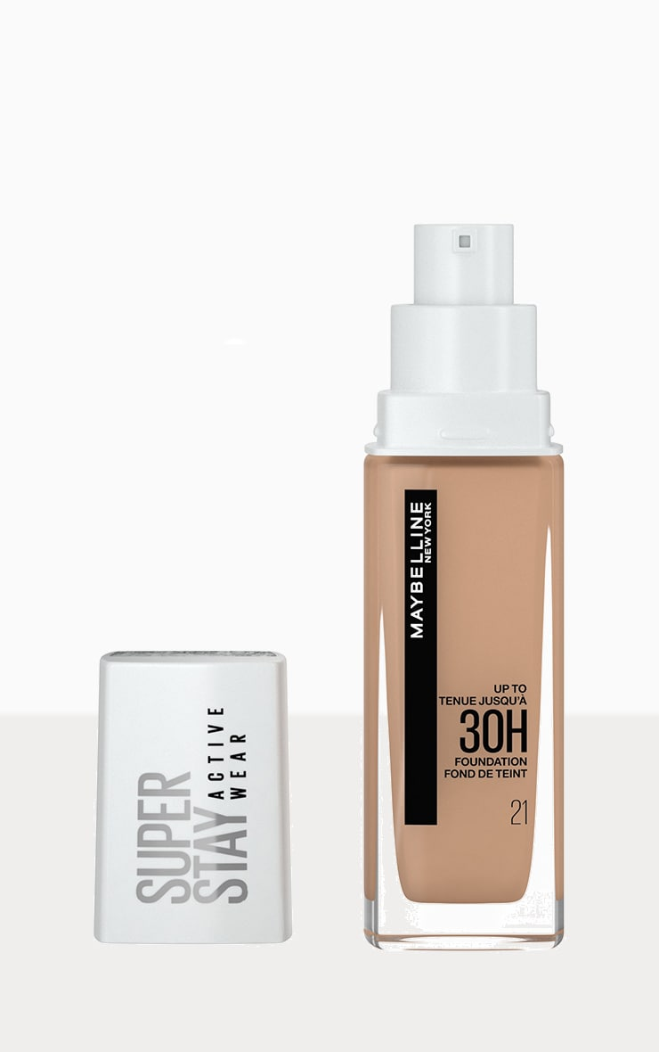 Maybelline Superstay Active Wear Full Coverage 30 Hour Long-lasting Liquid Foundation 21 Nude Beige image 1
