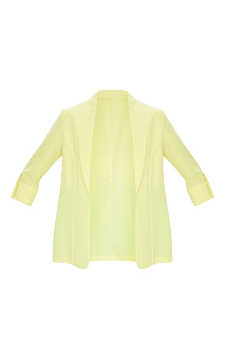Lemon Woven Turn Up Sleeve Blazer 5