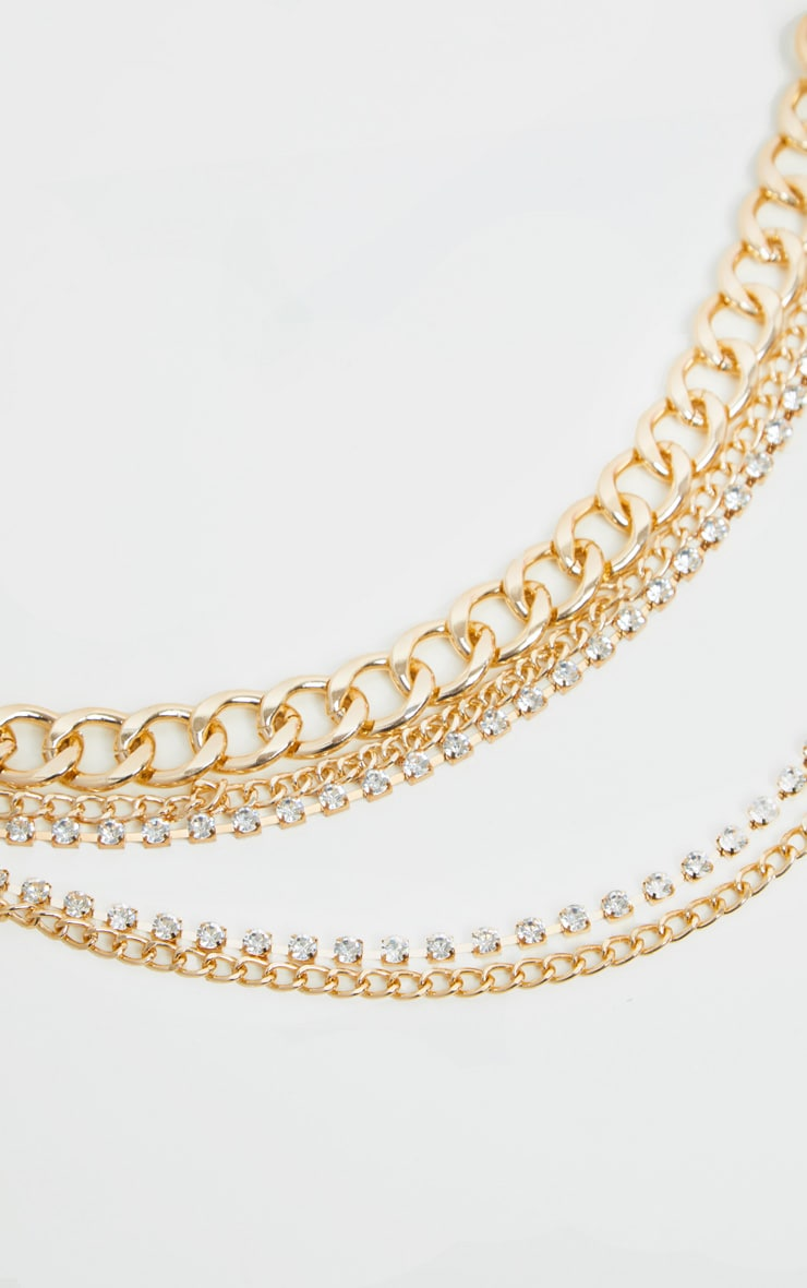 Gold Layered Chain Belt 3