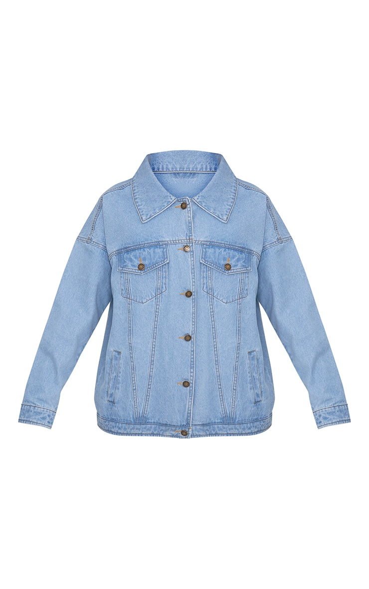 Christianae Mid Wash Au Revoir Felicia Over Sized Denim Jacket 3