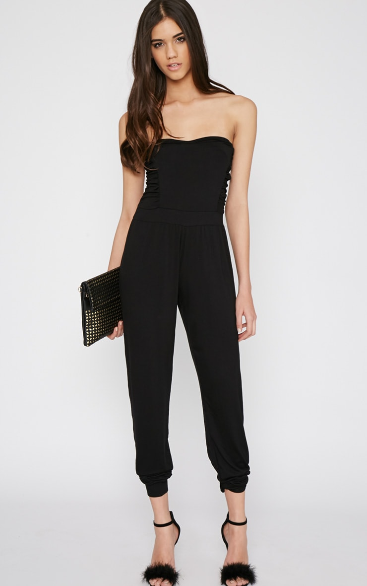 Shelby Black Ruched Jumpsuit 4