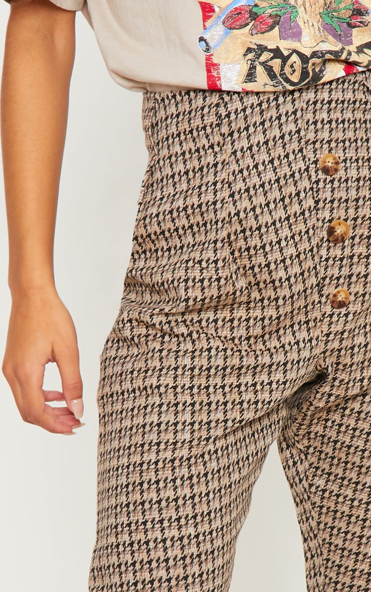 Stone Tweed Button Front Cigarette Pants 5