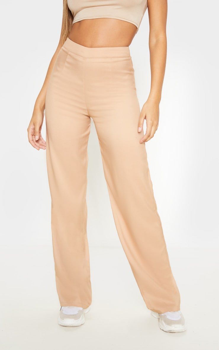 Beige Wide Leg Suit Trouser 2