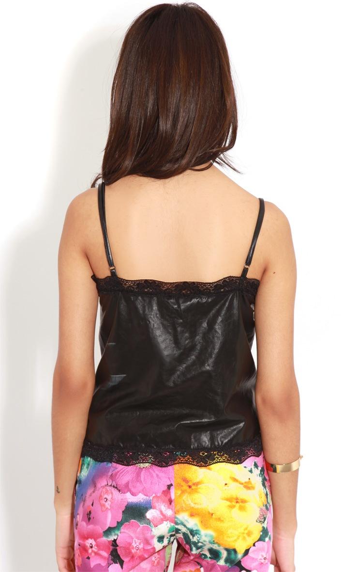 Shyla Faux Leather Slinky Cami 2