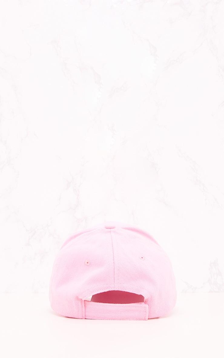Pink Woven Baseball Cap 4