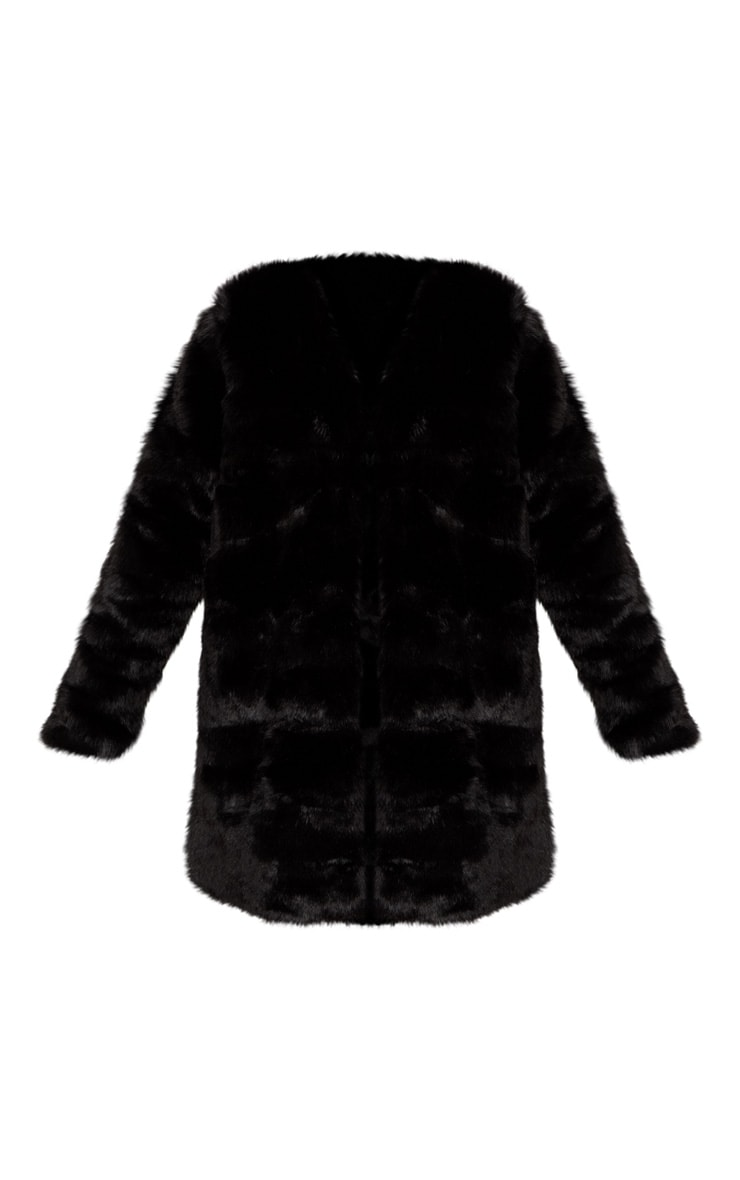 Black Faux Fur Coat 3