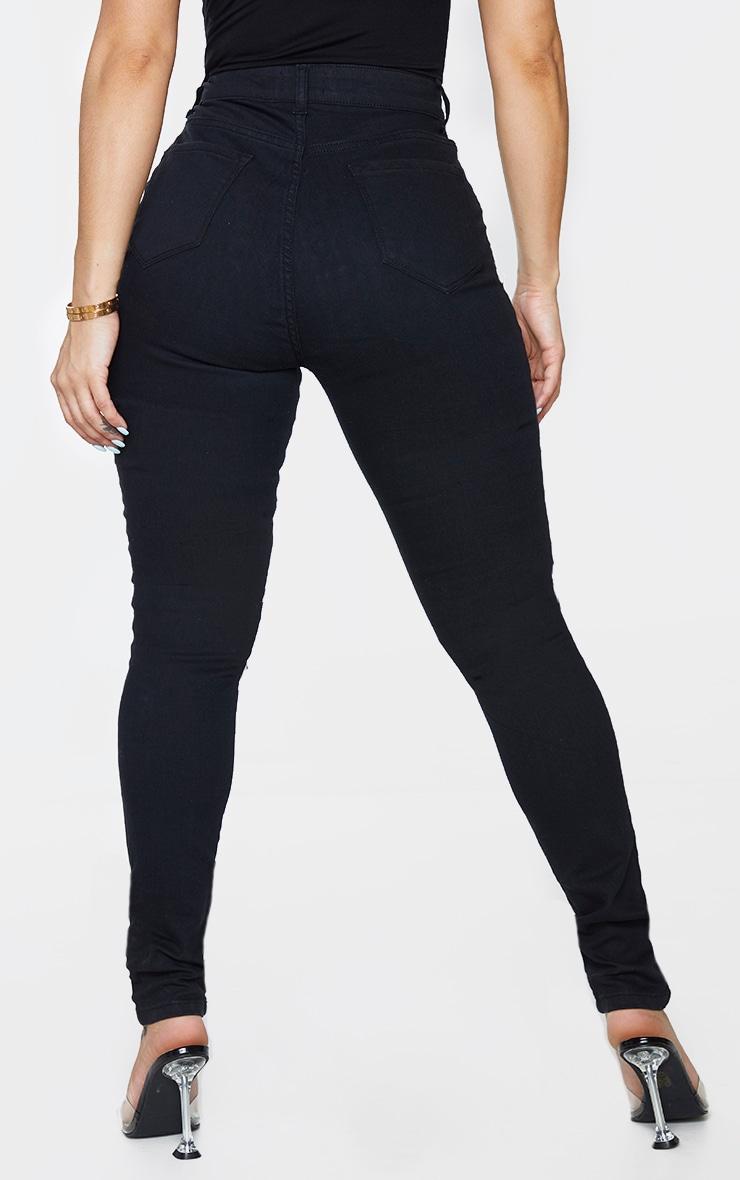 Shape - Jean skinny noir à laçage frontal 3