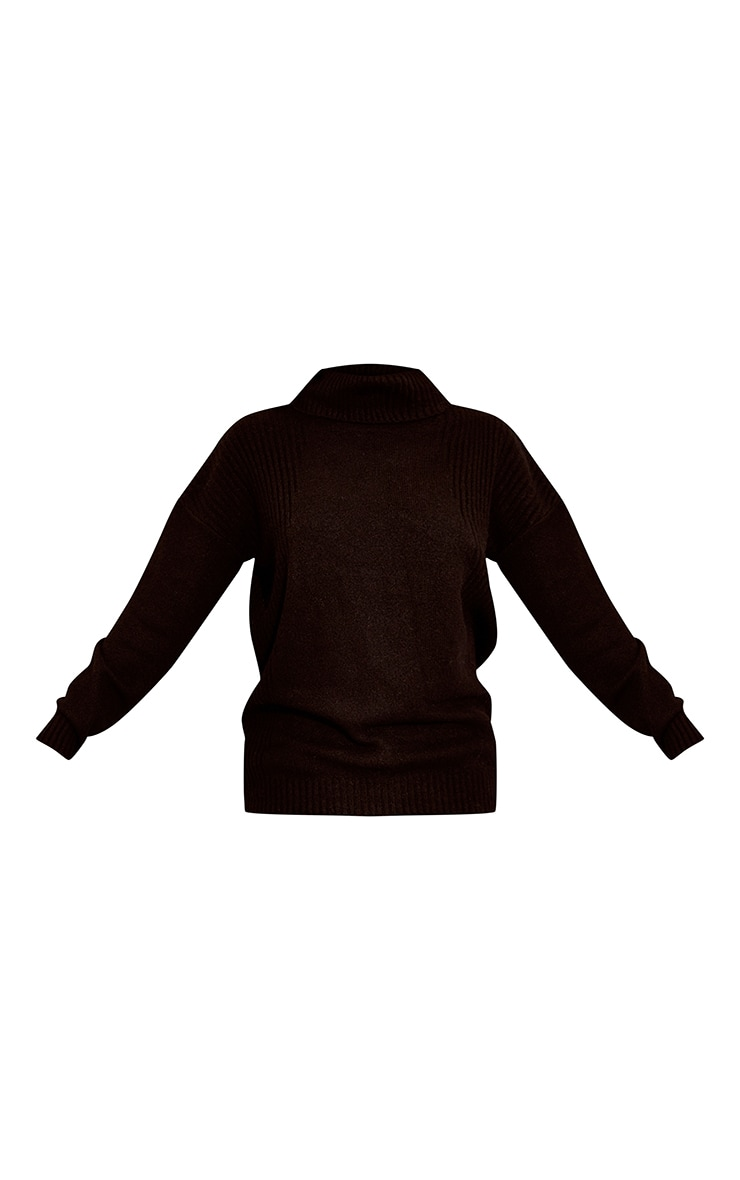 Recycled Black Knitted Slouchy Roll Neck Sweater 5