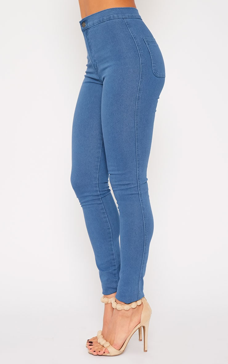 Jenna Blue Wash High Waist Jeans 3