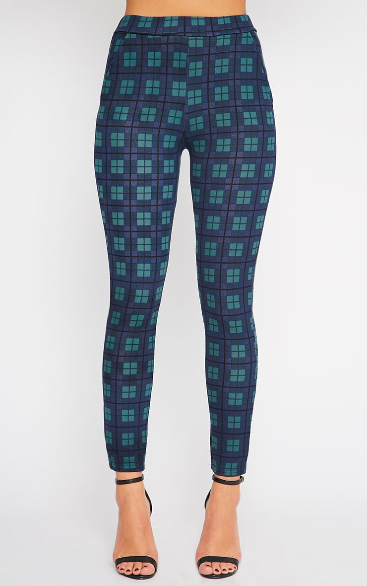 Jehanne Green Checked Trouser  4