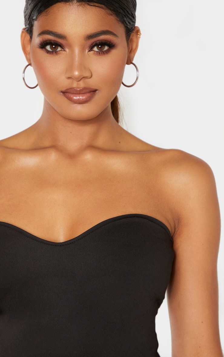 Tall Black Strapless Sweetheart Bodysuit 6