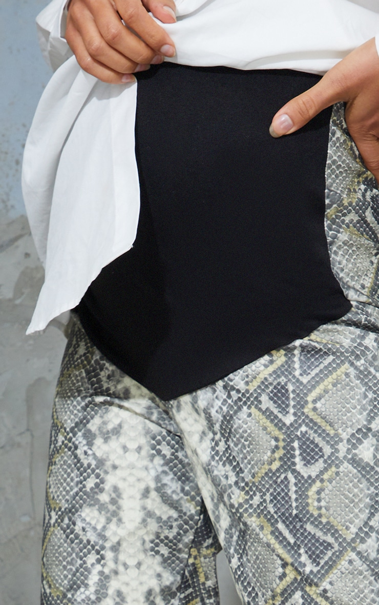 Maternity Grey Split Hem Snake Print Flared Pants 4